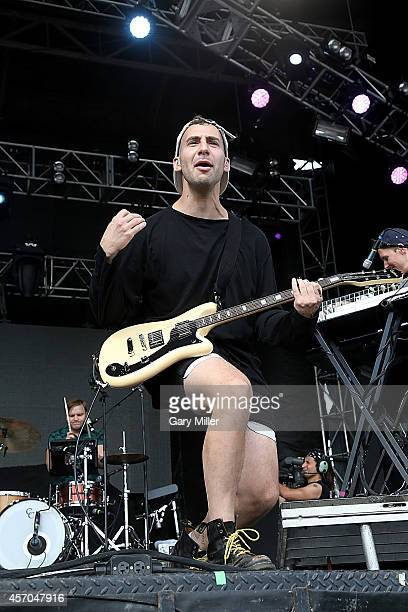 Jack Antonoff of Bleachers performs during the first day of the second weekend of the Austin City Limits Music Festival at Zilker Park on October 10,...