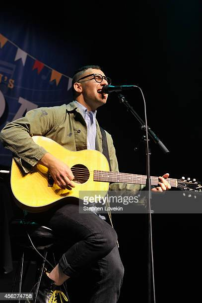Jack Antonoff of Bleachers performs during T.J. Martell Foundation's 15th Annual Family Day Honoring Tom Corson, President & COO of RCA Records and...