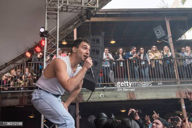 Jack Antonoff of Bleachers performs live in the security pit during the 2019 SXSW Conference and Festival on March 16, 2019 in Austin, Texas.