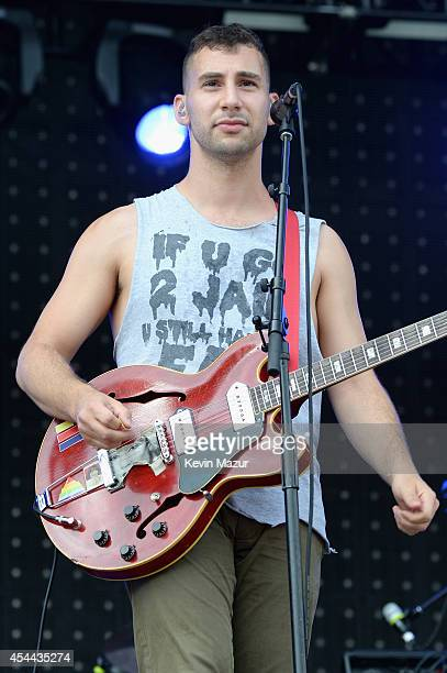 Jack Antonoff of Bleachers performs onstage at the 2014 Budweiser Made In America Festival at Benjamin Franklin Parkway on August 30, 2014 in...