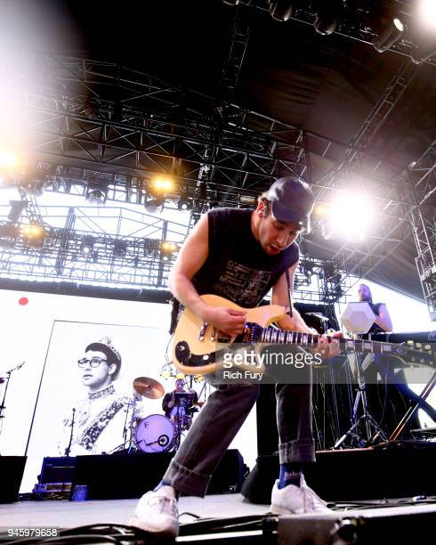 Jack Antonoff of Bleachers performs onstage during the 2018 Coachella Valley Music And Arts Festival at the Empire Polo Field on April 13, 2018 in...