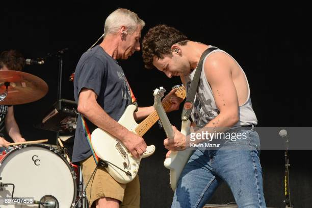 Jack Antonoff of Bleachers performs onstage with his dad Rick Antonoff during the 2017 Firefly Music Festival on June 18 2017 in Dover Delaware