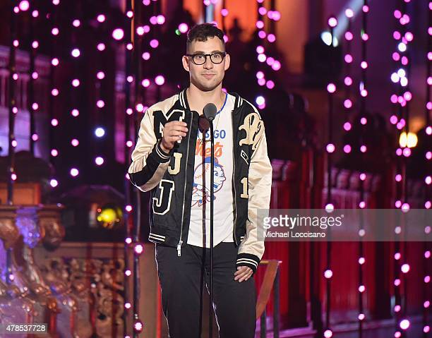 "Jack Antonoff of Bleachers speaks onstage at Logo's ""Trailblazer Honors"" 2015 at the Cathedral of St. John the Divine on June 25, 2015 in New York..."