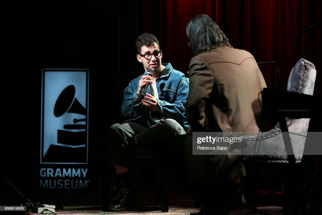 Jack Antonoff of Bleachers speaks with GRAMMY Museum Executive Director Scott Goldman at The Drop: Bleachers at The GRAMMY Museum on October 2, 2017 in Los Angeles, California.