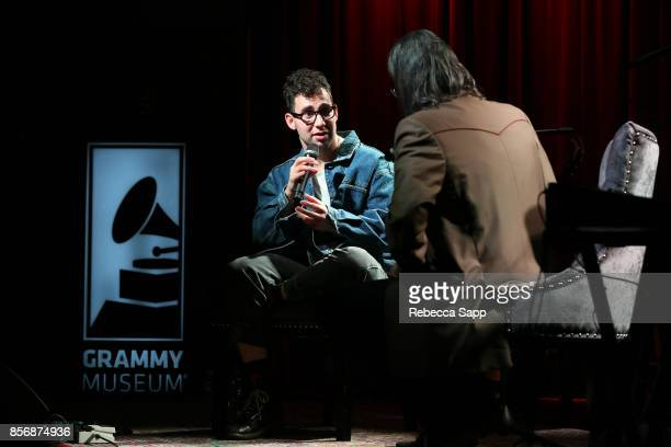 Jack Antonoff of Bleachers speaks with GRAMMY Museum Executive Director Scott Goldman at The Drop Bleachers at The GRAMMY Museum on October 2 2017 in...