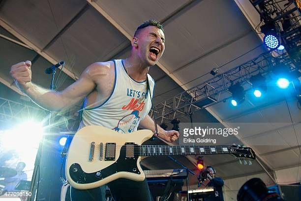 Jack Antonoff of the band Bleachers performs on day 3 of the 2015 Bonnaroo Music Arts Festival on June 13 2015 in Manchester Tennessee