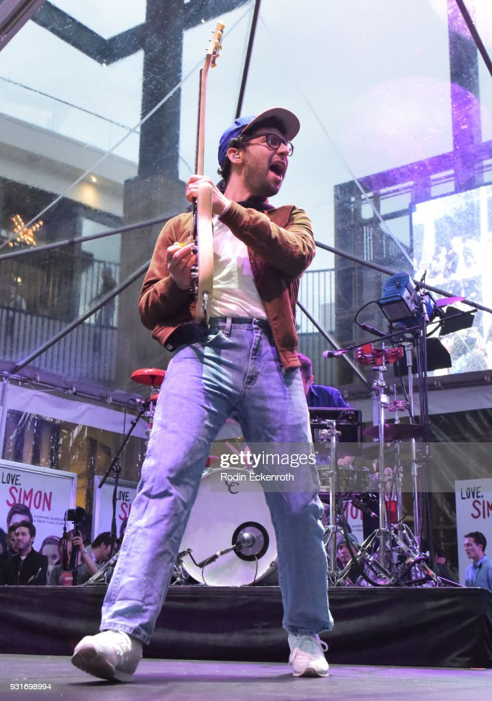 Jack Antonoff performs onstage at a special screening of 20th Century Fox's 'Love, Simon' at Westfield Century City on March 13, 2018 in Los Angeles, California.