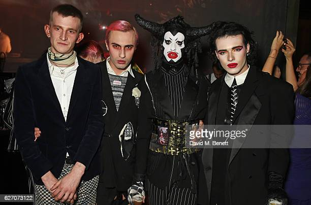 Jack Appleyard Charles Jeffrey Scotty Sussman and Harry Charlesworth attend 'The Radical Eye' dinner and private view for the Elton John Aids...