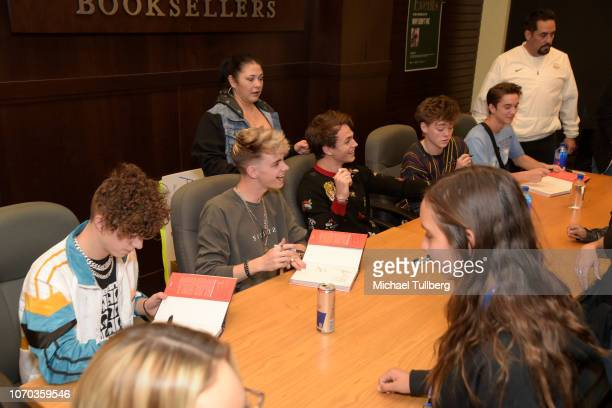 Jack Avery Corbyn Besson Jonah Marais Zach Herron and Daniel Seavey of Why Don't We attend a signing event for their book Why Don't We In the...