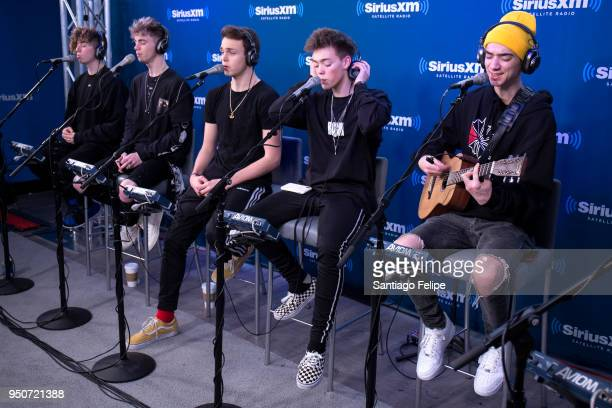 Jack Avery Corbyn Besson Jonah Marais Zach Herron and Daniel Seavey of 'Why Don't We' visit at SiriusXM Studios on April 24 2018 in New York City