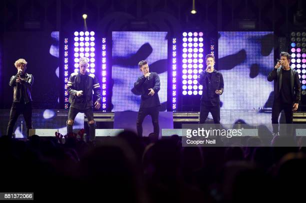 Jack Avery Corbyn Besson Zach Herron Daniel Seavey and Jonah Marais of Why Don't We perform onstage at 1061 KISS FM's Jingle Ball 2017 Presented by...