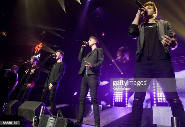 Jack Avery Corbyn Besson Zach Herron Daniel Seavey and Jonah Marais of Why Don't We perform onstage at WiLD 949's FM's Jingle Ball 2017 Presented by...