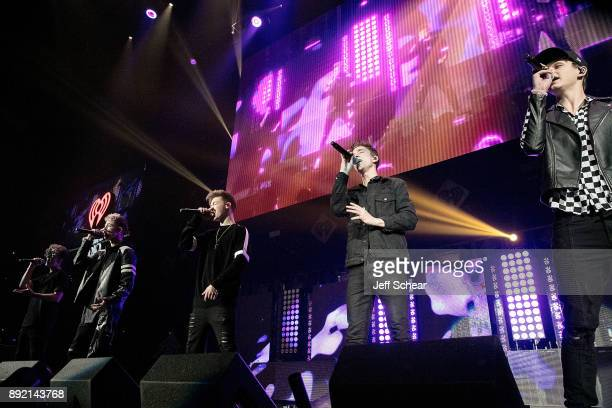 Jack Avery Corbyn Besson Zach Herron Daniel Seavey and Jonah Marais of Why Don't We performs on stage at 1035 KISS FM's iHeartRadio Jingle Ball 2017...