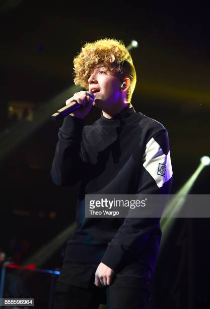Jack Avery of Why Don't We performs at Z100's Jingle Ball 2017 on December 8 2017 in New York City