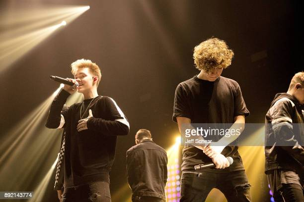 Jack Avery of Why Don't We performs on stage at 1035 KISS FM's iHeartRadio Jingle Ball 2017 on December 13 2017 in Chicago Illinois