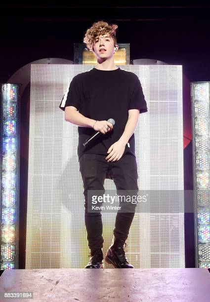 Jack Avery of Why Don't We performs onstage at WiLD 949's FM's Jingle Ball 2017 Presented by Capital One at SAP Center on November 30 2017 in San...