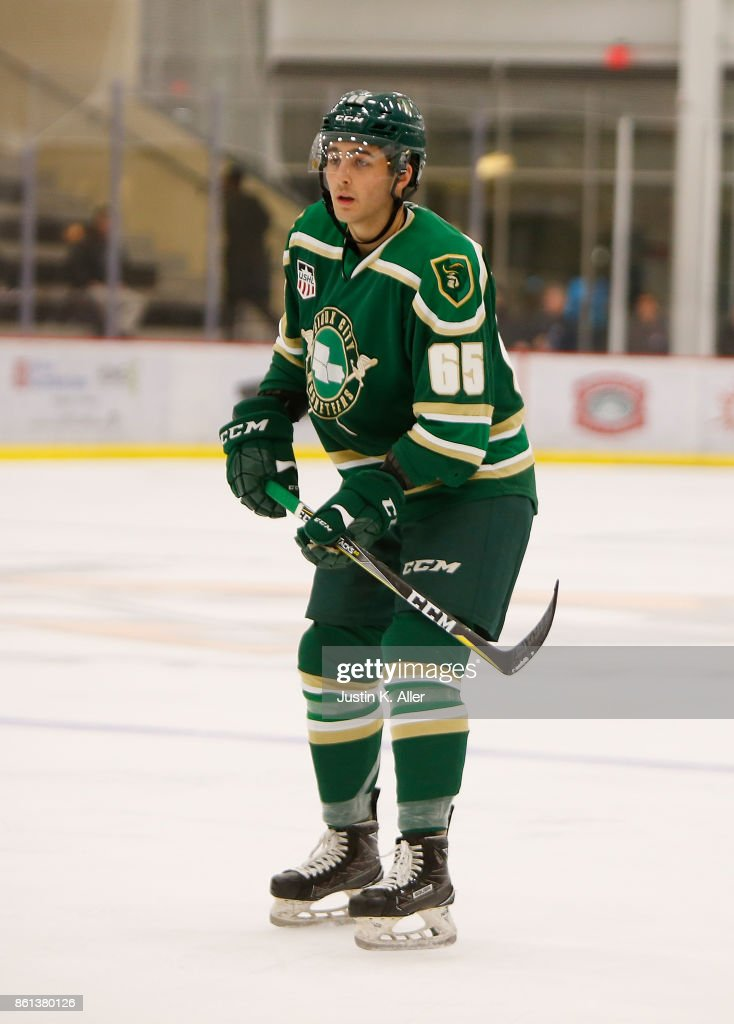 Jack Babbage #65 of the Sioux City Musketeers skates during the game against the Cedar Rapid RoughRiders on Day 1 of the USHL Fall Classic at UPMC Lemieux Sports Complex on September 28, 2017 in Cranberry Township, Pennsylvania.