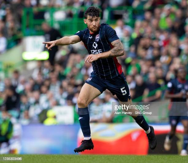 Jack Baldwin in action for Ross County during a cinch Premiership match between Celtic and Ross County at Celtic Park on September 11 in Glasgow,...