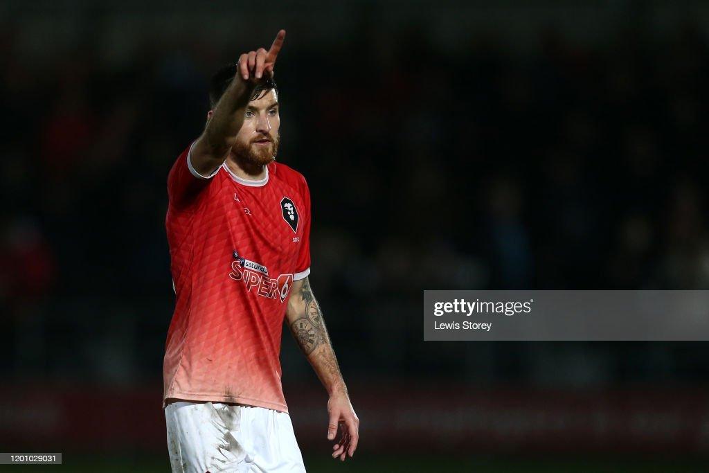 Salford City v Accrington Stanley - Leasing.com Trophy : News Photo