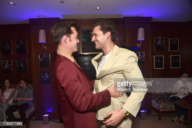 Jack Bannon and Ben Aldridge attend the after party for the premiere of Epix's Pennyworth on July 24 2019 in Los Angeles California