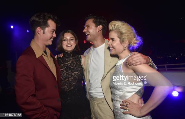 Jack Bannon Emma Corrin Ben Aldridge and Paloma Faith attend the after party for the premiere of Epix's Pennyworth on July 24 2019 in Los Angeles...