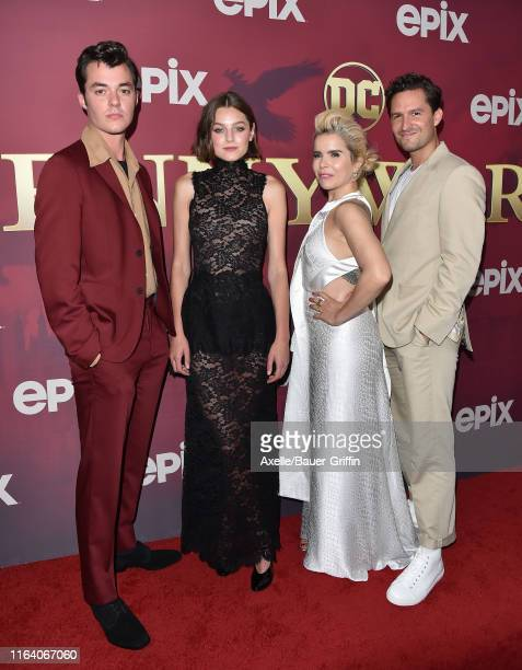 Jack Bannon Emma Corrin Paloma Faith and Ben Aldridge attend the LA Premiere of Epix's Pennyworth at Harmony Gold on July 24 2019 in Los Angeles...
