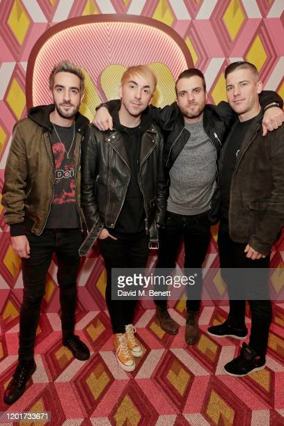Jack Barakat Alex Gaskarth Rian Dawson and Zack Merrick of All Time Low attend the Warner Music CIROC BRIT Awards house party in association with GQ...