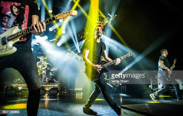 Jack Barakat of All Time Low performs at Eventim Apollo on March 10 2017 in London England