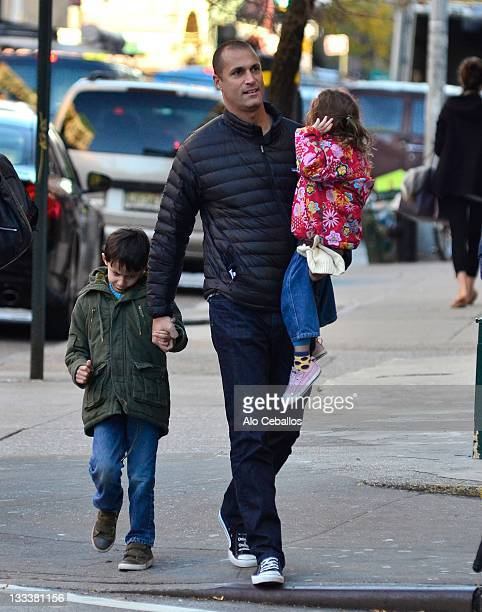 Jack Barker Nigel Barker and Jasmine Ines Barker are seen in the west village on November 18 2011 in New York City