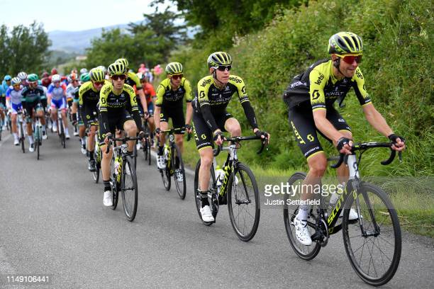 Jack Bauer of New Zealand and Team Mitchelton - Scott / Brent Bookwalter of The United States and Team Mitchelton - Scott / Mikel Nieve of Spain and...