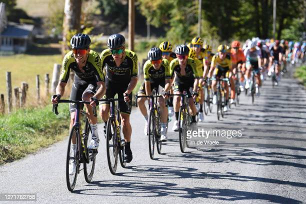 Jack Bauer of New Zealand and Team Mitchelton - Scott / Christopher Juul Jensen of Denmark and Team Mitchelton - Scott / Peloton / during the 107th...