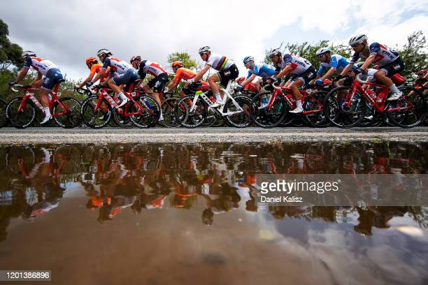 Jack Bauer of New Zealand and Team Mitchelton-SCOTT / Michael Hepburn of Australia and Team Mitchelton-SCOTT / Koen De Kort of Netherlands and Team...