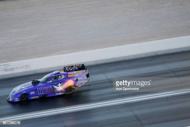 Jack Beckman Don Schumacher Racing Dodge Charger NHRA Funny Car during the 17th annual NHRA Toyota Nationals on October 27 at The Strip at Las Vegas...