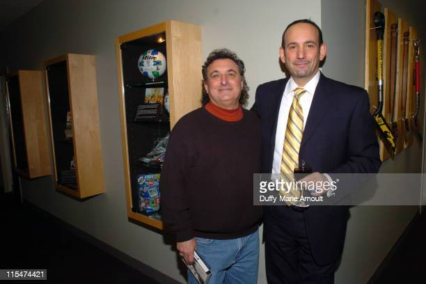 Jack Bell of the New York Times and Don Garber, Commissioner of MLS