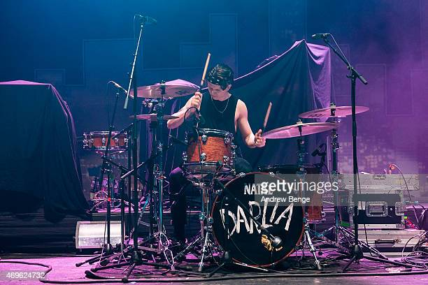 Jack Bentham of Darlia performs on stage at Brixton Academy on April 13 2015 in London United Kingdom