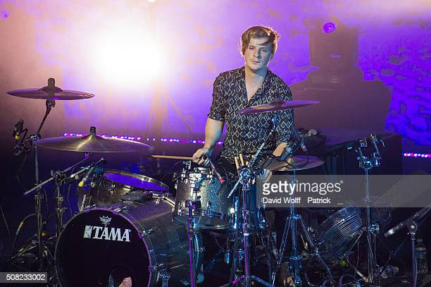 Jack Bevan from Foals performs at L' Olympia on February 3 2016 in Paris France