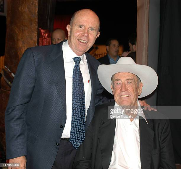 Jack Binion and Doyle Brunson during Doyle BrundsonPamela Anderson Party to Launch PamelaPokercom at The Bellagio Hotel and Casino Resort in Las...