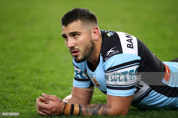 Jack Bird of the Sharks looks dejected after defeat during the NRL Elimination Final match between the Cronulla Sharks and the North Queensland...