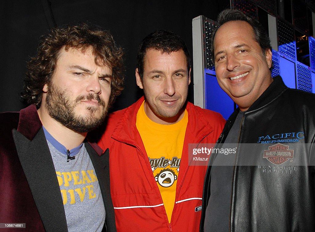 Jack Black, Adam Sandler and Jon Lovitz during Nickelodeon's