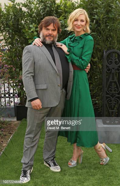 Jack Black and Cate Blanchett attend the World Premiere of The House With A Clock In Its Walls at Westfield White City on September 5 2018 in London...
