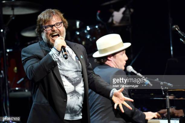 Jack Black and Chris Stills perform during the 5th Annual Light Up The Blues Concert an Evening of Music to Benefit Autism Speaks at Dolby Theatre on...