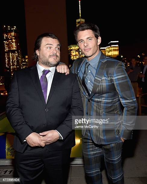 Jack Black and James Marsden attend the The Cinema Society Banana Boat Host The New York Premiere Of IFC Films' The D Train after party at Jimmy At...