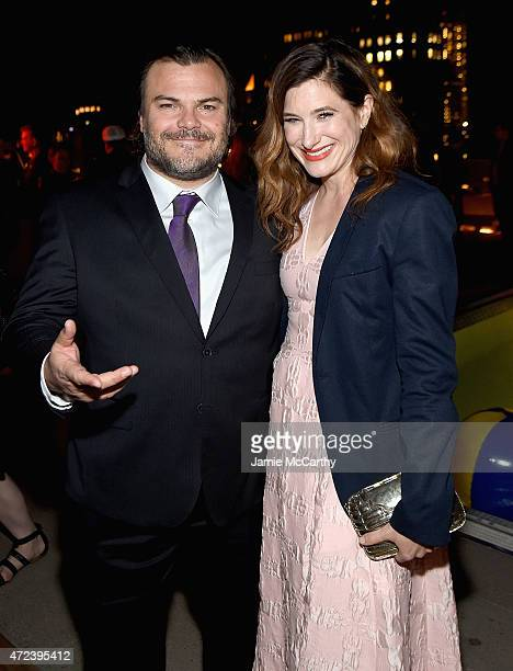 Jack Black and Kathryn Hahn attend the The Cinema Society Banana Boat Host The New York Premiere Of IFC Films' The D Train after party at Jimmy At...