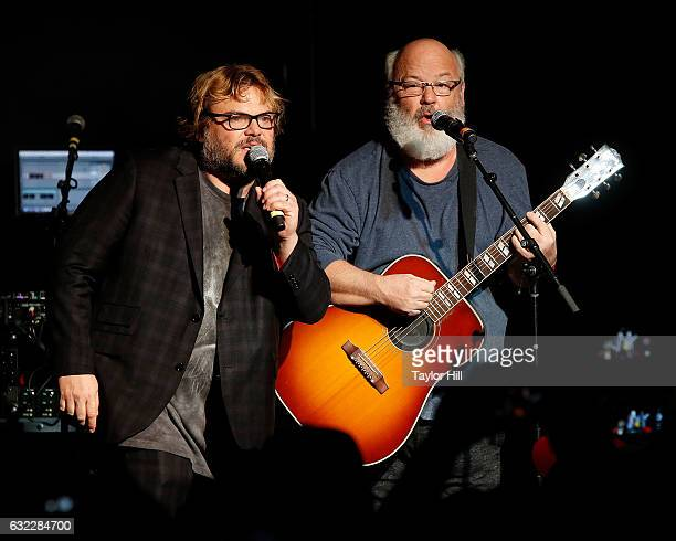 Jack Black and Kyle Gass of Tenacious D perform during the Prophets Of Rage And Friends' AntiInaugural Ball at Teragram Ballroom on January 20 2017...