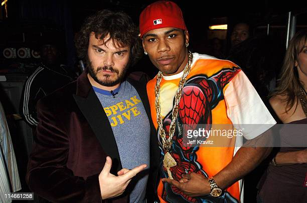 Jack Black and Nelly during Nickelodeon's 19th Annual Kids' Choice Awards - Backstage and Audience at Pauley Pavillion in Westwood, California,...