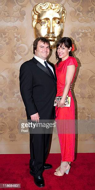 Jack Black and wife Tanya Haden arrives at the 2011 BAFTA Brits To Watch Event at the Belasco Theatre on July 9 2011 in Los Angeles California The...