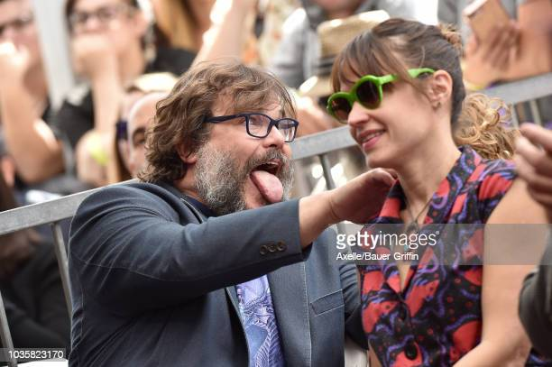 Jack Black and wife Tanya Haden attend the ceremony honoring Jack Black with star on the Hollywood Walk of Fame on September 18 2018 in Hollywood...