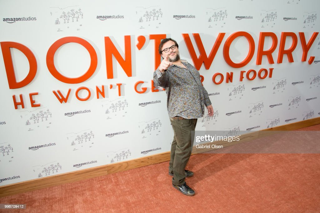 Jack Black arrives to the Amazon Studios premiere of 'Don't Worry, He Wont Get Far On Foot' at ArcLight Hollywood on July 11, 2018 in Hollywood, California.