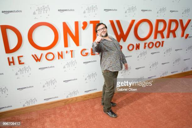 Jack Black arrives to the Amazon Studios premiere of 'Don't Worry He Wont Get Far On Foot' at ArcLight Hollywood on July 11 2018 in Hollywood...