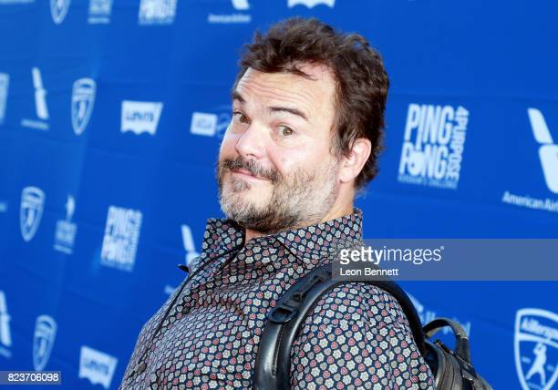 Jack Black at Clayton Kershaw's 5th Annual Ping Pong 4 Purpose Celebrity Tournament at Dodger Stadium on July 27 2017 in Los Angeles California